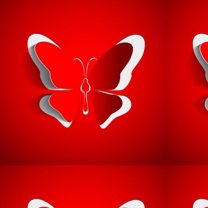 Tapeta Pixerstick Blahopřání s papírovou motýl - konstrukce vektor eps10 - Ostatní Ostatní