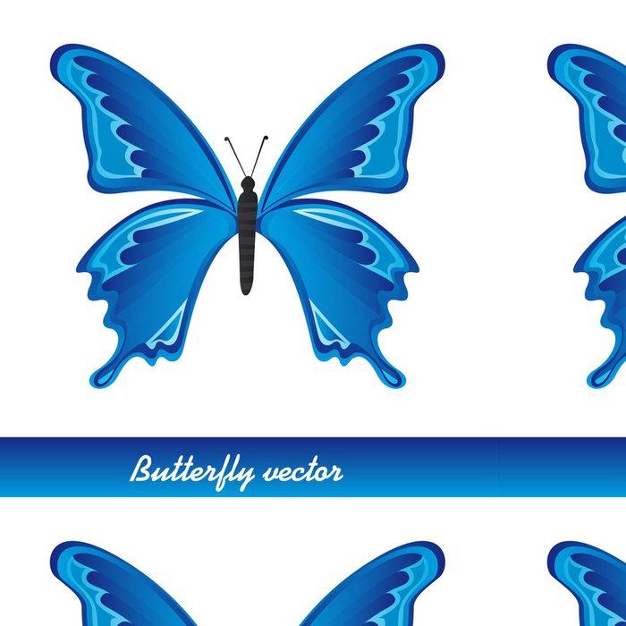 Tapeta Pixerstick Blue Butterfly - Jiné objekty