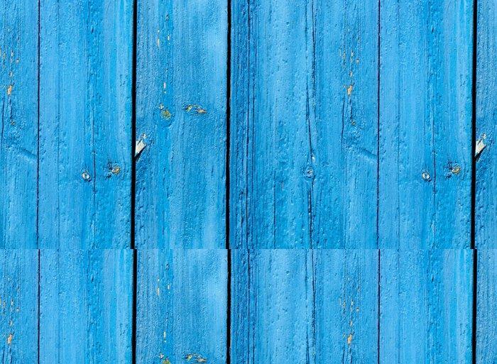 Tapeta Pixerstick Blue grunge dřevěné pozadí - Pozadí