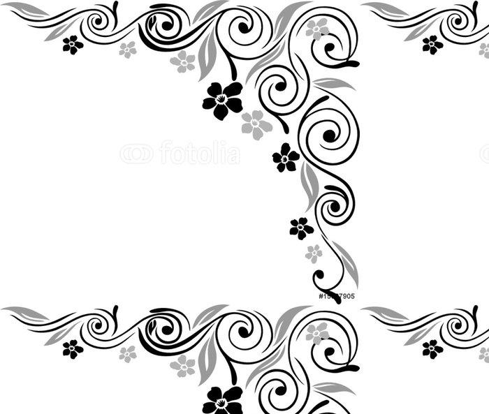 Tapeta Pixerstick Blumen, Blüten, Ranke, Filigran, okrasné - Květiny