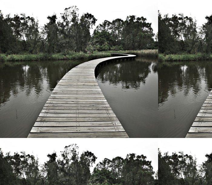 Tapeta Pixerstick Boardwalk přes vodu do lesa - Venkov