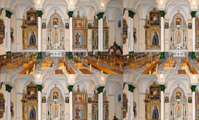 Tapeta Pixerstick Boční pohled, uvnitř kostela Santiago, Arboleas, Almeria, Španělsko - Veřejné budovy
