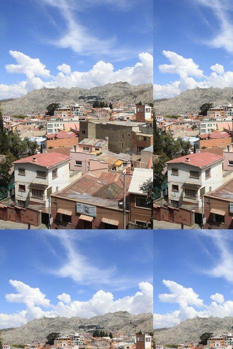 Tapeta Pixerstick Bolivijský slumy pod modrou oblohou - Amerika