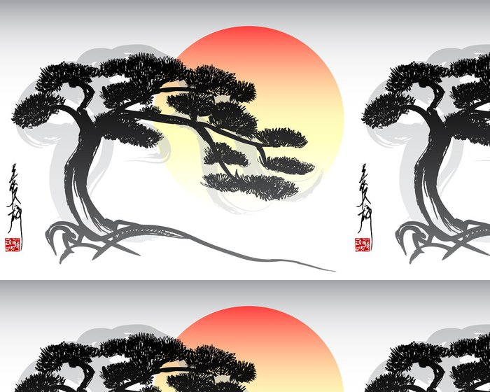 Tapeta Pixerstick Bonsai Tree -