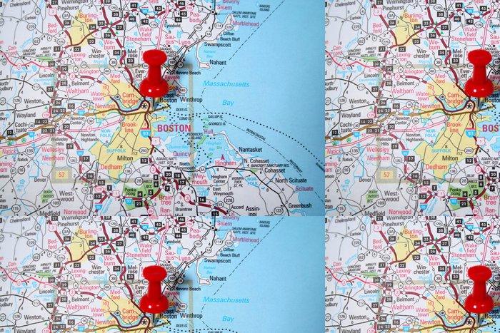 Vinylová Tapeta Boston mapa - Amerika