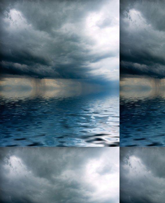 Tapeta Pixerstick Bouře visí nad mořem - Přírodní katastrofy
