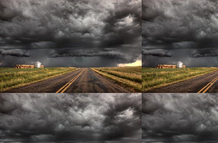 Tapeta Pixerstick Bouřkové mraky Saskatchewan - Venkov