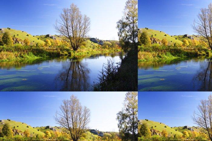 Vinylová Tapeta Brenz v Eselsburger údolí (Schwäbische Alb) - Roční období