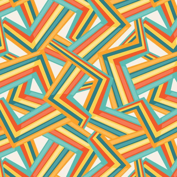 Tapeta Pixerstick Bright abstraktní bezešvé geometrický vzor. - Móda