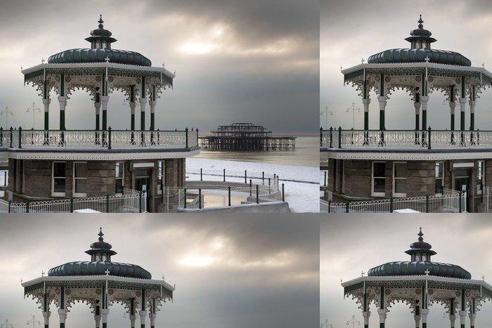 Tapeta Pixerstick Brighton zimní scény - Památky