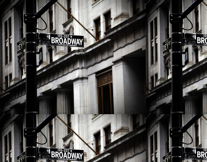 Tapeta Pixerstick Broadway znamení - Témata