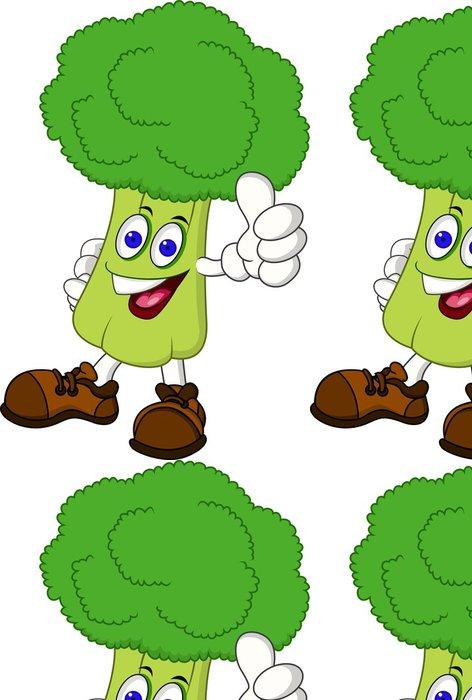Vinylová Tapeta Brokolice karikatura -