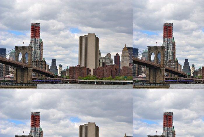 Tapeta Pixerstick Brooklyn Bridge v New Yorku - Americká města