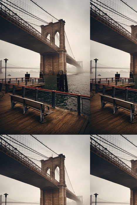 Tapeta Pixerstick Brooklyn bridge - Stavby a architektura