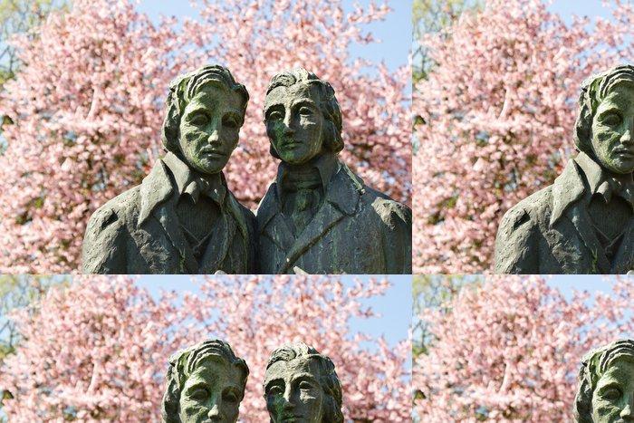 Tapeta Pixerstick Brothers Grimm socha v německém Kasselu - Evropa