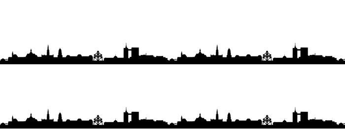 Tapeta Pixerstick Brusel panorama - Nálepka na stěny