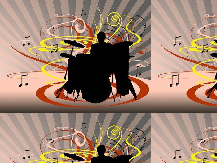 Tapeta Pixerstick Bubny - Hudba