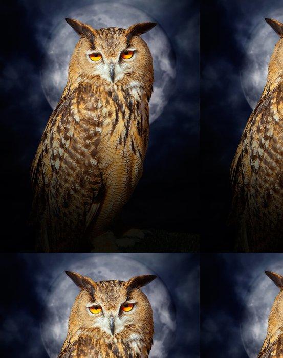 Tapeta Pixerstick Bubo bubo výr velký noční pták úplňku - Témata