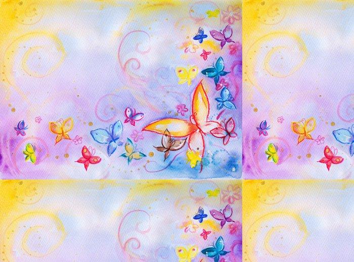 Tapeta Pixerstick Buckground s motýly-akvarelů - Témata