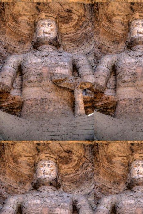Tapeta Pixerstick Buddha Kamenořezba z Yungang jeskyně - Asie