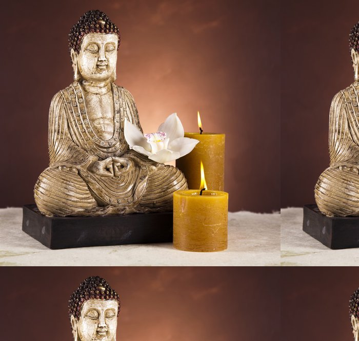 Tapeta Pixerstick Buddha se svíčkou - Témata