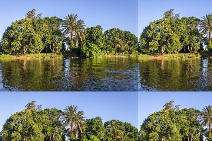 Vinylová Tapeta Bujnou tropickou vegetací - Afrika