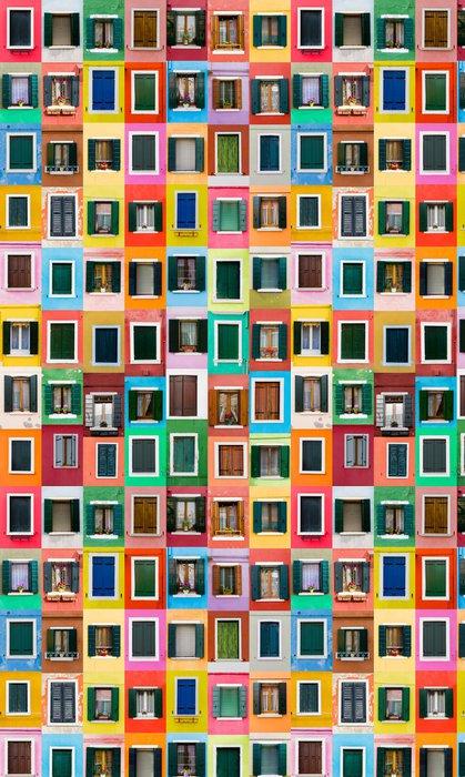 Vinylová Tapeta Burano okna, Itálie - Evropská města