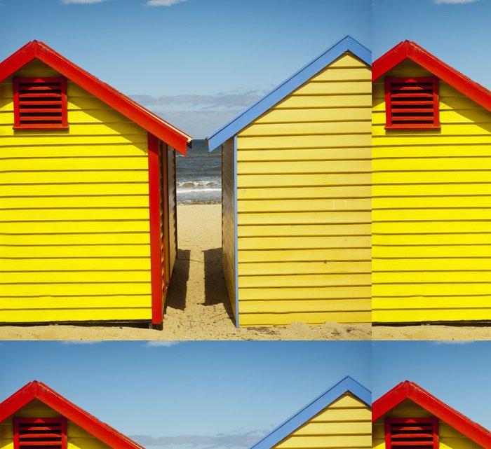 Tapeta Pixerstick Cabanes de plage colorées - Brighton beach - Melbourne - Oceánie