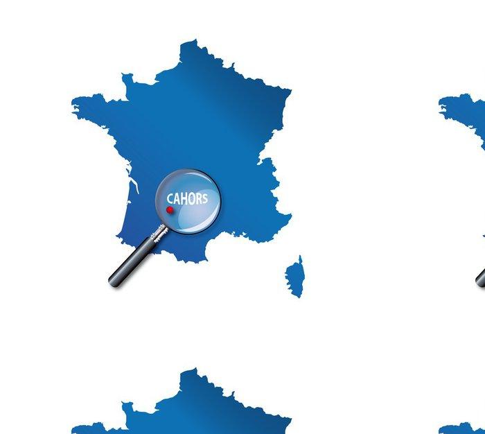 Tapeta Pixerstick Cahors: Lokalizace sur carte de France - Departement du Lot - Evropa