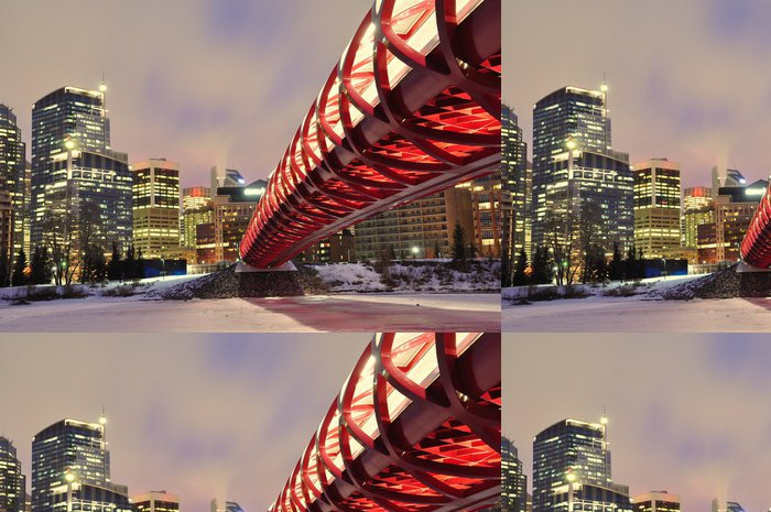 Tapeta Pixerstick Calgary panorama a klid most v noci. - Amerika