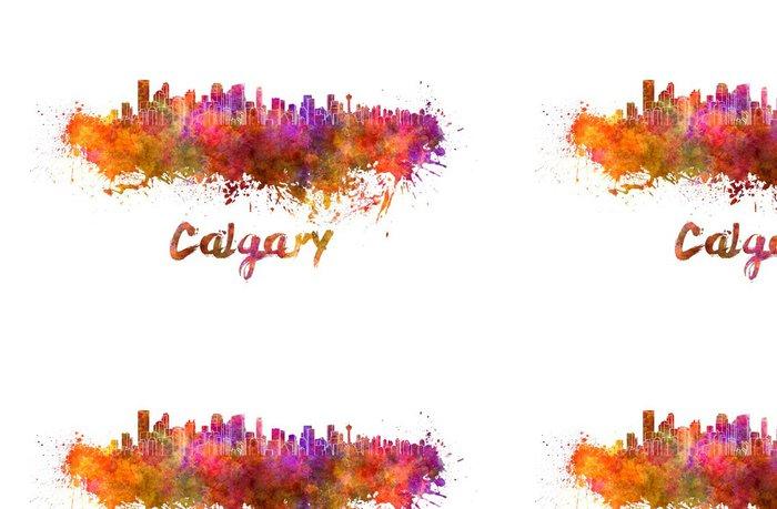 Vinylová Tapeta Calgary panorama v akvarel - Amerika