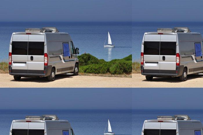 Tapeta Pixerstick Camper van na pláži - Na cestě