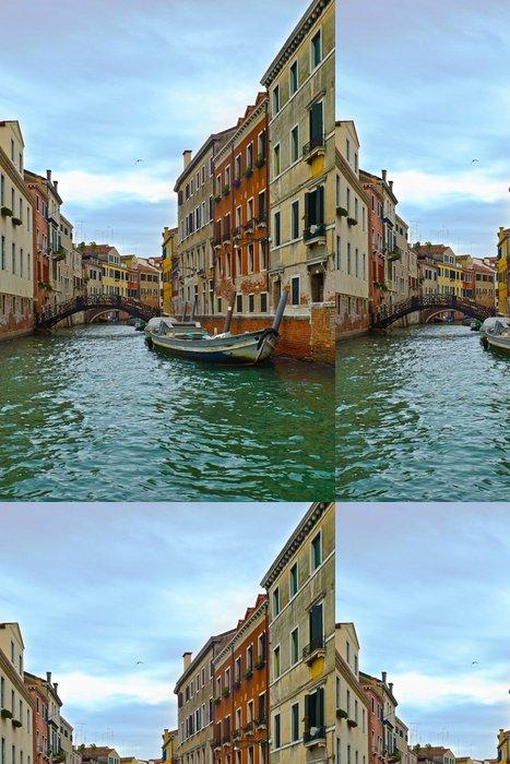 Tapeta Pixerstick Canal v Benátkách a motorových člunů, Itálie, Evropa - Evropská města