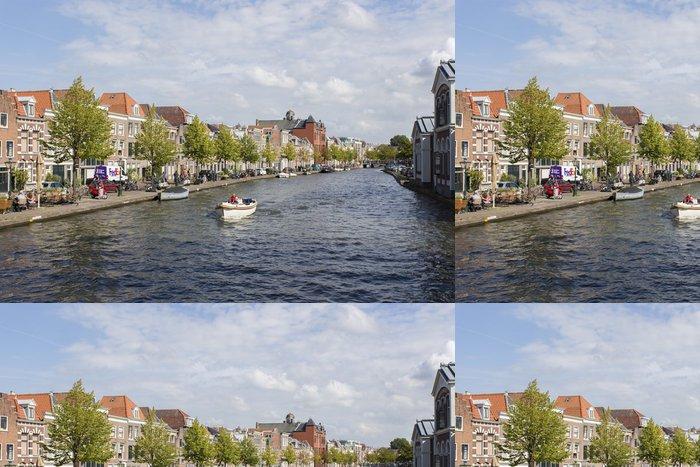 Tapeta Pixerstick Canale olandese Leiden - Prázdniny