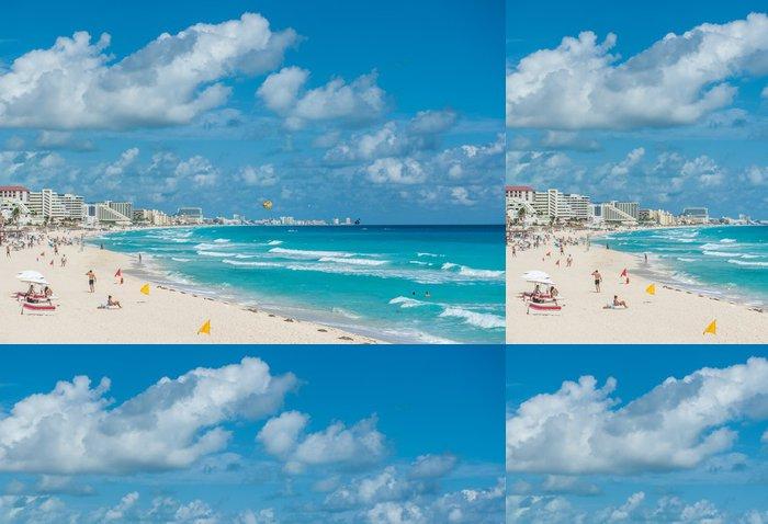 Tapeta Pixerstick Cancun beach scéna, Mexiko - Témata