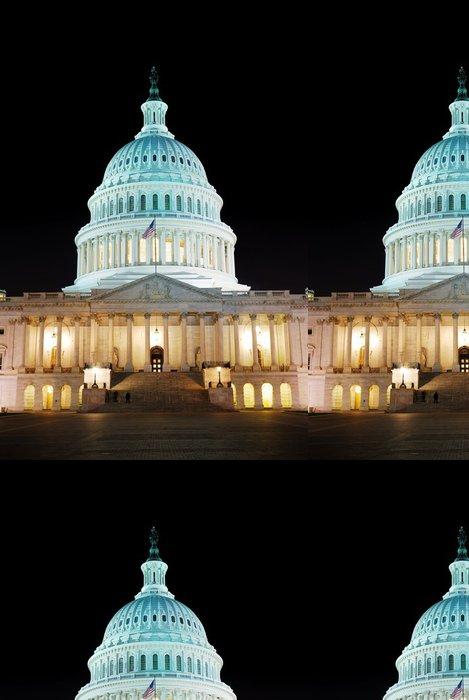 Tapeta Pixerstick Capitol Hill Building s nočním osvětlením, Washington DC - Americká města
