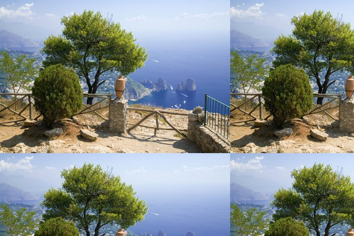 Tapeta Pixerstick Capri. Itálie. - Evropa