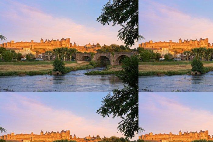 Tapeta Pixerstick Carcassonne, Francie při západu slunce - Témata