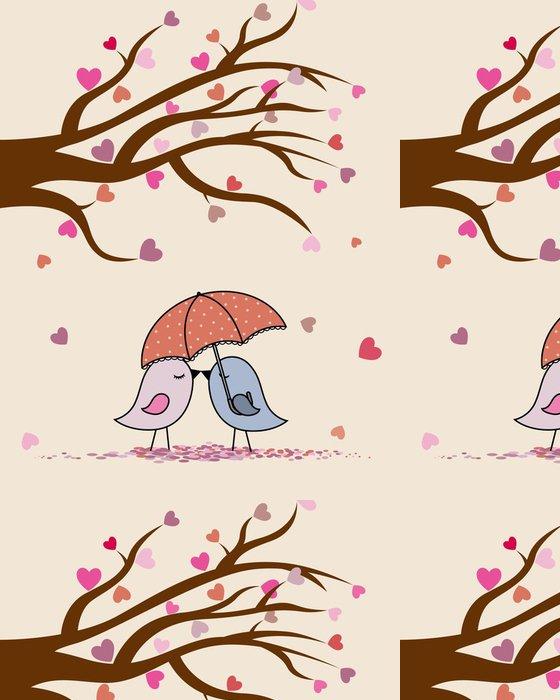 Tapeta Pixerstick Card San Valentin. Ptáci v lásce - Mezinárodní svátky
