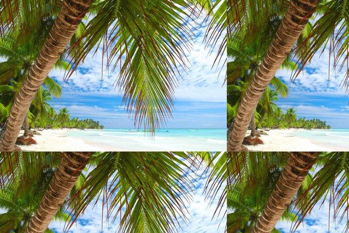 Tapeta Pixerstick Caribbean beach - Prázdniny