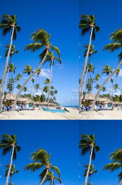 Tapeta Pixerstick Caribbean beach - Nebe