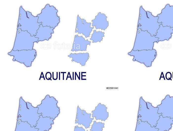 Vinylová Tapeta Carte Aquitaine France départements détourés - Evropa