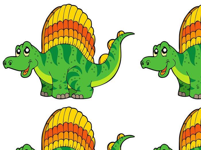 Tapeta Pixerstick Cartoon malý dinosaurus - Nálepka na stěny