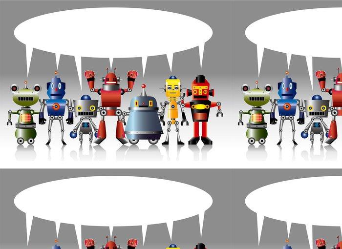 Tapeta Pixerstick Cartoon robot karty -