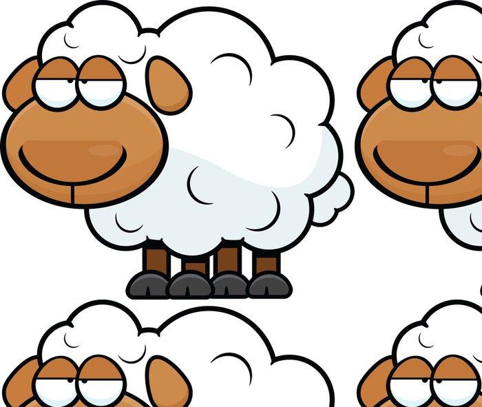 Tapeta Pixerstick Cartoon Sheep Unavený - Savci