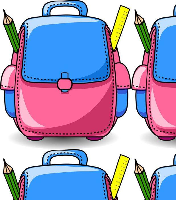 Tapeta Pixerstick Cartoon Školní taška - Nálepka na stěny
