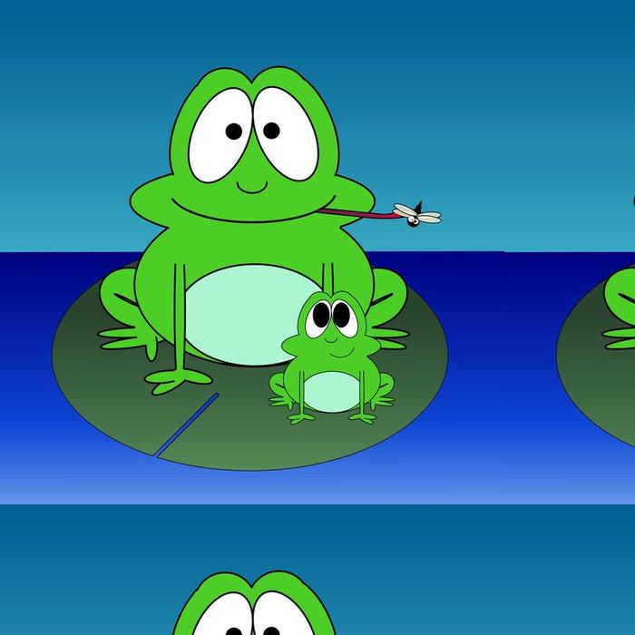 Tapeta Pixerstick Cartoon žáby na Lilly Pad - Osud