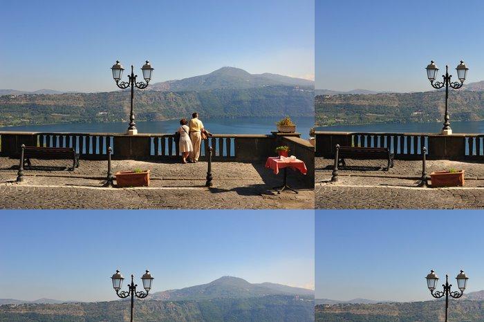 Tapeta Pixerstick Castel Gandolfo - Lago Albano - Evropa