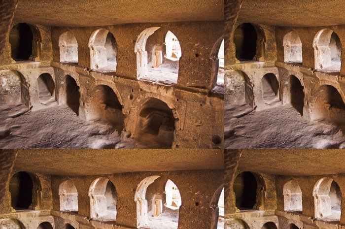 Vinylová Tapeta Cathédrale troglodyte de Selime - Cappadoce - Střední Východ