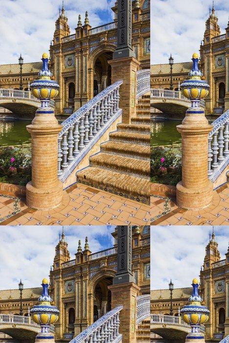 "Tapeta Pixerstick Ceramic ""Plaza de España"" - Evropská města"